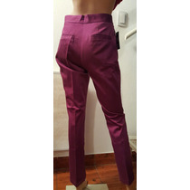 Pantalon De Vestir Gabardina Tiro Alto. Recto