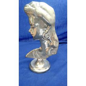Escultura Rostro De Mujer - Bronce Macizo - Antigüedad