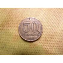 Moeda Brasileira Antiga 50 Centavos Ano 1949