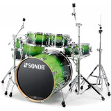 Set De Batería Sonor Essential Force Stage S Green Fade Birc