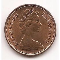 Moneda Gran Bretaña Inglaterra 1 Penny One Penny Año 1975