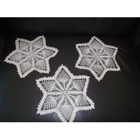 Lote 3 Carpetitas Tejidas Al Crochet . Usadas Impecables