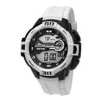Relógio Masculino Mormaii Acqua Pro Mo1081/8b Branco/ Preto