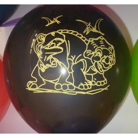 Dinosaurios Combo 25 Globos +25 Bolsitas =50 Unid.impresas
