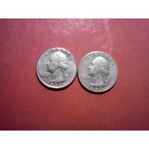 Monedas 2 De Un Cuarto De Dolar 1979-1983