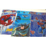 Lote Spider Batman Frutillita Vs Manteles Descartables X 20