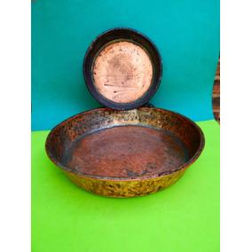 Antiguas Fuentes De Cobre - Bandeja - Cocina - Decoracion