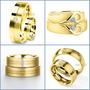 Exclusivas Argollas En Oro Amarillo Plata Matrimonio Regalo