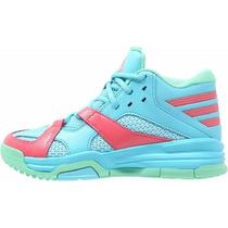 Zapatillas Adidas Basquet First Step Niños Celeste C/fucsia
