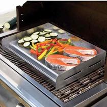 Plancha Para Cocinar Acero Inoxidable 45 X 33 Cm
