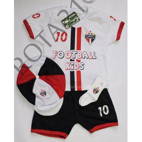 Kit 4 Peças Conjunto Futebol São Paulo Para Meninos