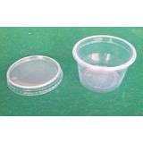 100 Embalagens - Pote Plástico Descartavel 250ml Com Tampa