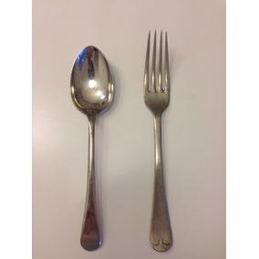 Cucharas Y Tenedores De Alpaca Inglesa