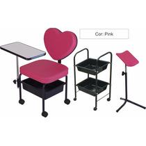 Kit Manicure Love Pink: Cirandinha Love + Carr Aux + Tripé