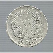 Portugal 5 Escudos 1940 Plata