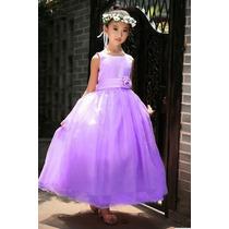 Vestido Lila De Fiesta Para Bebes Y Niñas - En Stock Oferta
