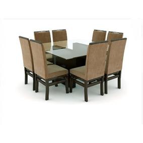 Conjunto Slim Mesa 8 Cadeiras Slim