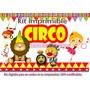 Kit Candybar Circo Primer Añito Tarjetas Cotillón