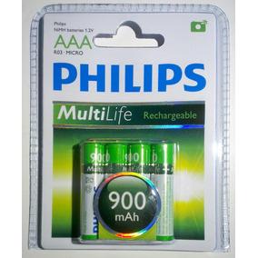 Pilas Recargables Aaa Philips 900mah Blister X 4 Ni-mh