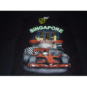 Espectacular!! Remera Orig. Singapore- Formula 1 Black- L