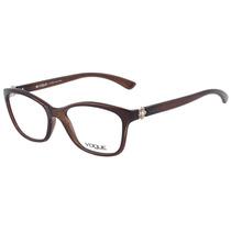 Vogue Vo 2904 Bl - Óculos De Grau 2250 Marrom Translúcido