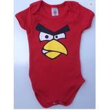 Body Angry Birds Red Vermelho Roupas Bebe Super Oferta