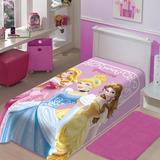 Cobertor Jolitex Solteiro Raschel Macio Disney Princesas
