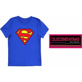 Franela De Caballero 100% Algodon Superman,interior,medias