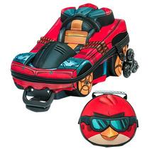 Mochila Escolar Mochilete 3d Angry Birds Go + Lancheira