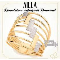Rommanel Anel Sete Fios Granit Feminino Folheado Ouro 511805
