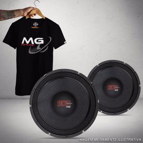 2 Woofers Shutt Mg 10 Polegadas 500w Rms + Camiseta Presente