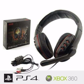 Headset Padrâo Game Sniper Headfone Ps3 Ps4 Xbox 360 Pc Mac