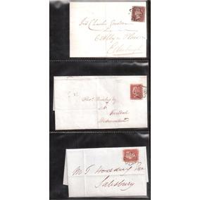 Lote Com 42 Envelopes Com Selo One Penny Red .