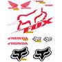 Kit Adesivos Capacete Fox Honda Refletivo Ktcp53 - Decalx