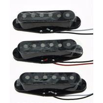 Kit Captador Single Coil Guitarra Strato Barato Preto