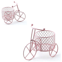 60 Unidade Lembrancinha Mini Bicicleta C. Cesto Aramado 7311