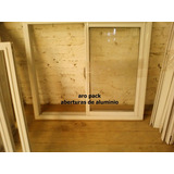 Ventana De Aluminio 150x110 Corrediza, Blanca Con Vidrios