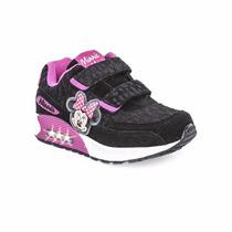 Zapatillas Addnice Disney Nena Minnie Velcro Luz Animalprint