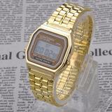Reloj Dorado Mujer Digital Clasico Nueva Moda Retro Elegant