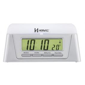Relogio Despertador Digital Fala Hora Com Temperatura Herweg