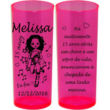 Kit 100 Copos Long Drink Personalizados Festa 15 Anos Infant