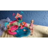 Toboágua Da Barbie Grande Com A Barbie E Cachorrinho