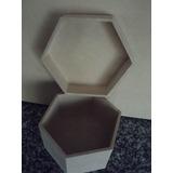 Caja Exagonal Fibrofacil 14x14x8-alhajero-bijou-souvenir