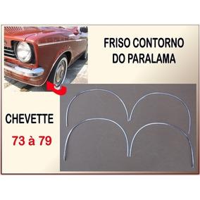 Frisos Contorno Paralama Chevette 73 À 79 Vão De Roda Jogo