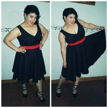 Vestido Retro Pin Up Rockabilly Negro! Un Clasico!!!