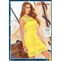 Oferta Vestido Amarillo Cklass Primavera Verano 2016 Nuevo