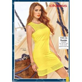 Oferta Vestido Amarillo Cklass Primavera Verano Envio Gratis