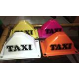 Aviso Taxi Mini Casco Con Chupones Colores Surtidos