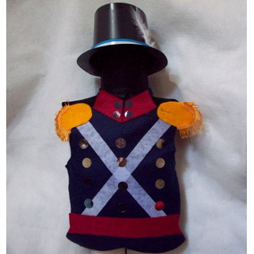 Disfraz Soldado Patricio Pechera Y Galera Niño 5 A 8 Años
