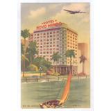 Rj129 Postal Antigo Rio De Janeiro Hotel Novo Mundo, Avião.